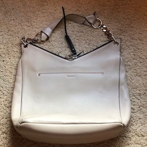 Jimmy Choo Raven Nappa Leather Shoulder Bag